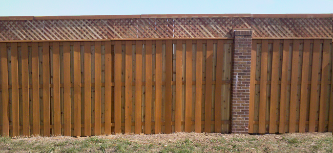 Shadow Box Fence with Lattice Top http://cordillerafence.com/wordpress/?page_id=15